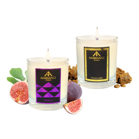 Romana Amber + Alteeneh Fig Candles - Scent Pairing Gift Set AW20