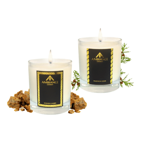 Phoenicia Cedar + Romana Amber Candles - Scent Pairing Gift Set AW20