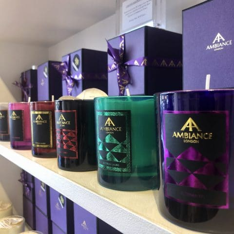 ancienne ambiance coloured scented candles - hand poured luxury scented candles