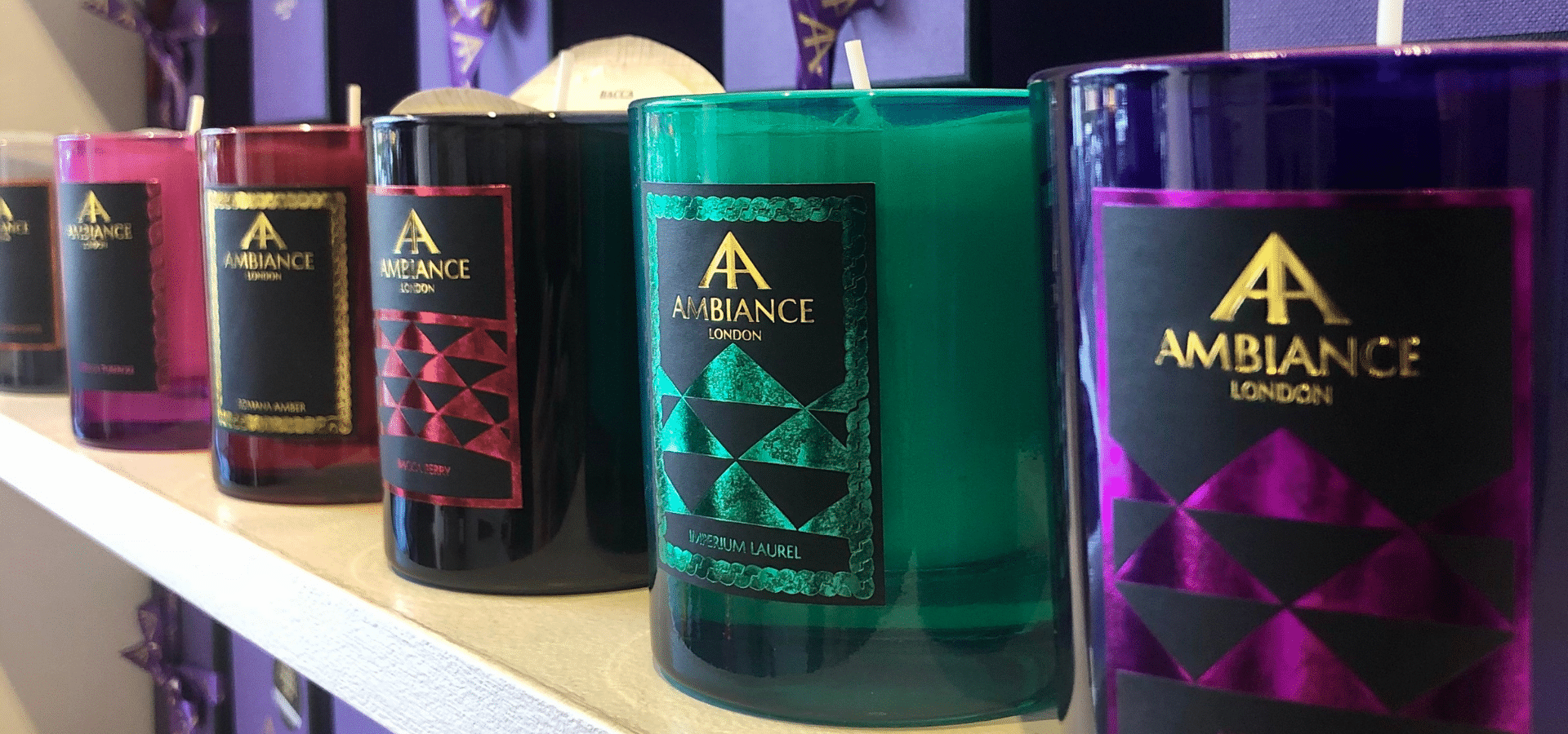 ancienne ambiance colored scented candles - hand poured scented candles