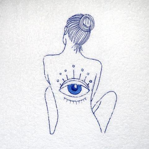 Goddess Vibes Evil Eye Of Horus Spa Towel Dress |Home Spa - Towel Wrap Dress Set