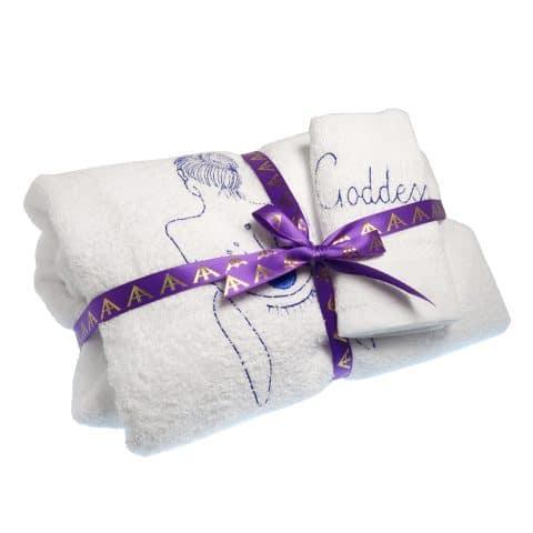 Spa Towel Wrap | Goddess Vibes Towel Dress | Eye Of Horus Embroidery