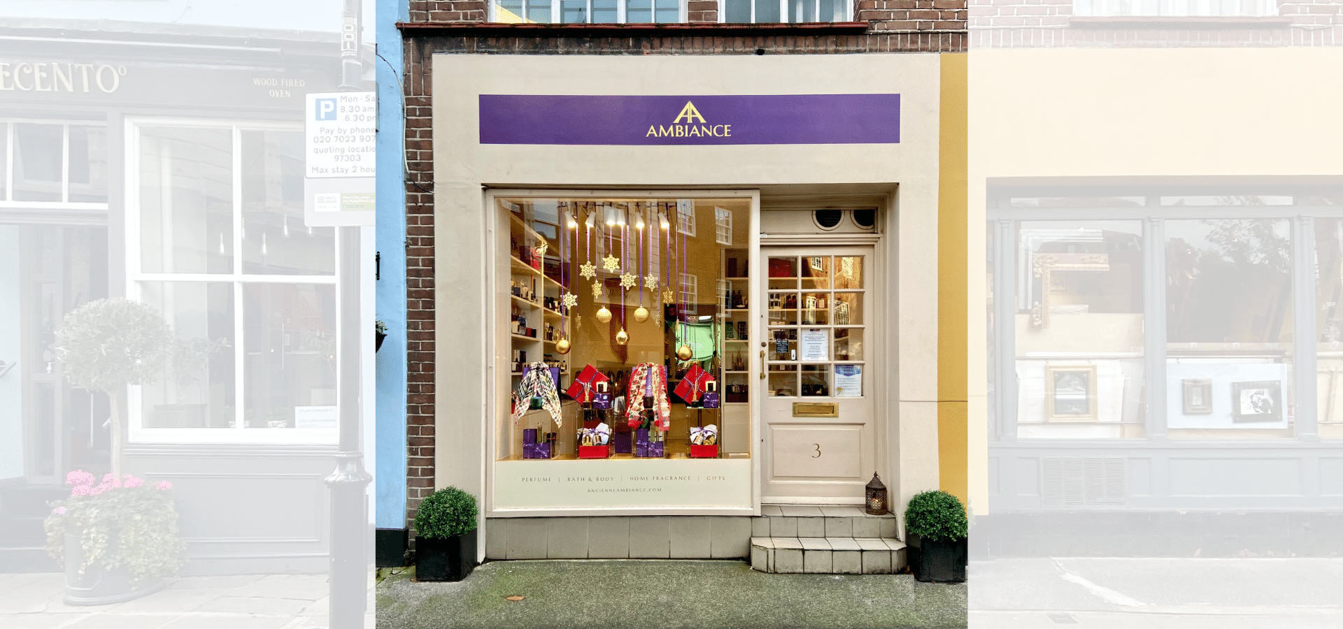 christmas window ancienne ambiance luxury boutique in the heart of chelsea