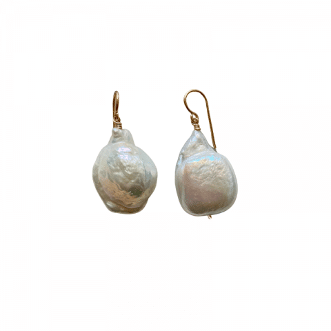 ancienne ambiance - claire van holthe baroque pearl earrings - south sea pearls