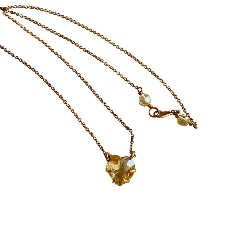 ancienne ambiance - claire van holthe citrine heart necklace