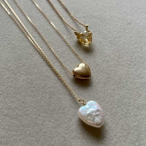 ancienne ambiance jewellery - claire van holthe jewelry - heart pendant necklaces - heart necklace