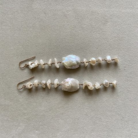 ancienne ambiance - claire van holthe long 11 baroque pearl earrings