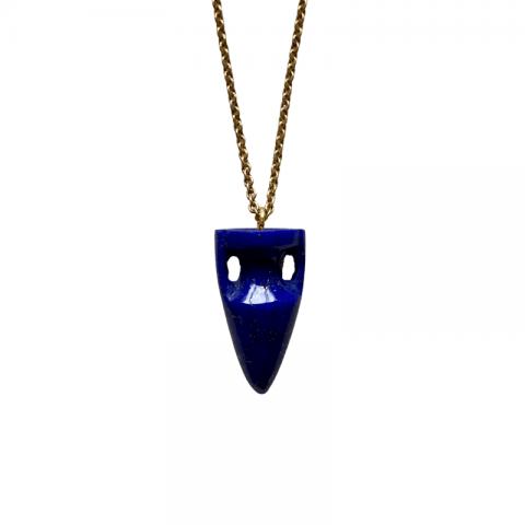 maximos zachariadis amphora lapis pendant necklace - amphora pendant necklace - lapis pendant - ancienne ambiance
