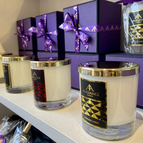 ancienne ambiance classic scented candles with gold lids