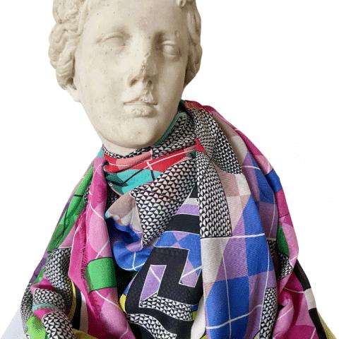 goddess aphrodite pink cashmere maxi scarf shawl 140x140
