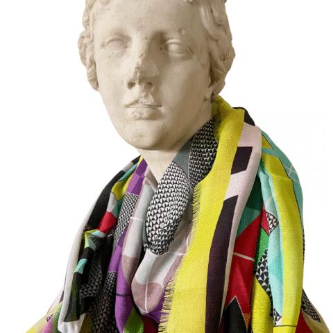 goddess aphrodite pink cashmere shawl 140x140