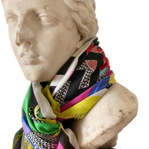 goddess aphrodite pink cashmere scarf 140x140