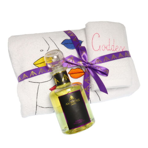 Ancienne Ambiance- Goddess Vibes Home Spa Towelling + Bath Oil Set - At-Home Spa Gift Set - Towel Wrap Dress