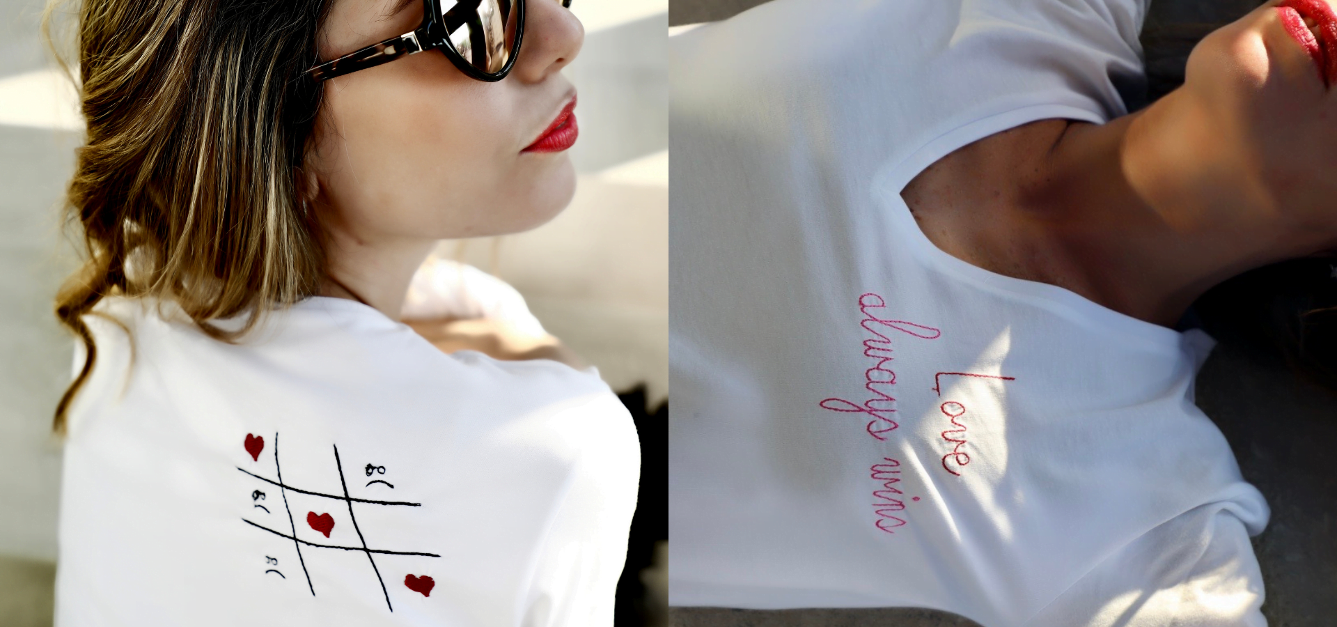 ancienne ambiance - melissa wear your heart - embroidery tshirt - love always wins tshirt front