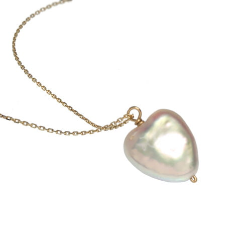 ancienne ambiance - claire van holthe pearl heart necklace