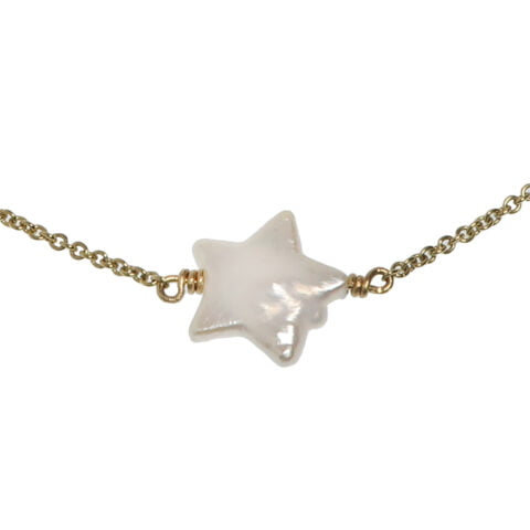Claire van Holthe Pearl Star Pendant Necklace