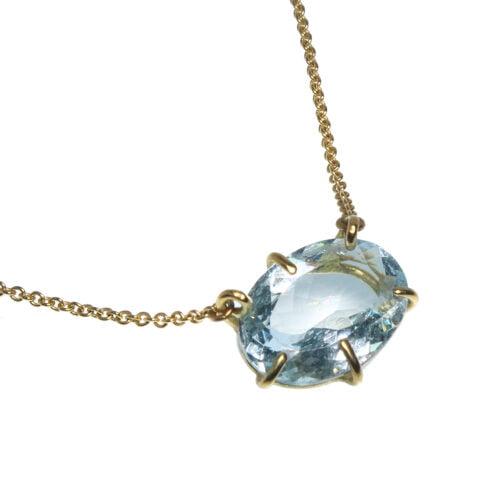 Claire van Holthe aquamarine pendant necklace