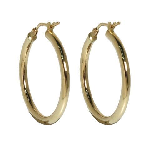 Claire van Holthe 25mm 9k gold hoop earrings