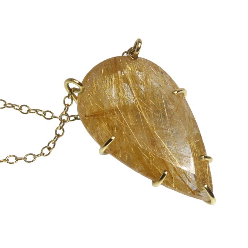 Claire van Holthe rutile quartz pendant necklace