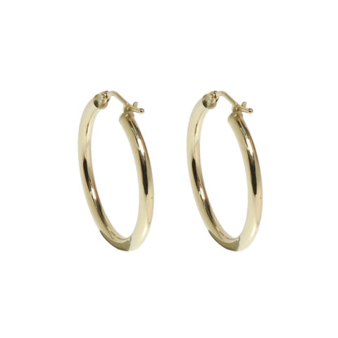 Claire van Holthe small 9k gold hoop earrings