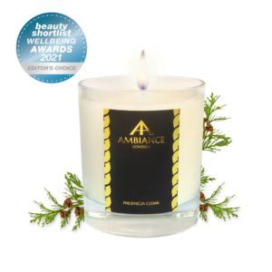 Beauty Shortlist Award Winner 2021 - Editors Choice : Luxury Scented Candle ancienne ambiance london - phoenicia cedar scented candle