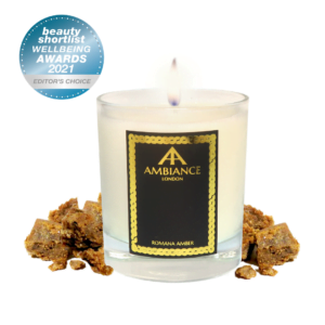 Beauty Shortlist Award Winner 2021 - Editors Choice : Luxury Scented Candle ancienne ambiance london - ambra amber scented candle
