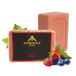 luxury soap - red berries scented soap - berry soap - savon de marseille - ancienne ambiance bacca soap