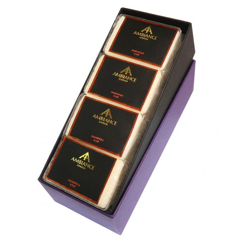 ancienne ambiance luxury soap bars - luxury almond soap set - white luxury soap set