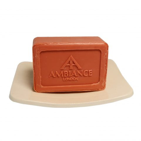 red berries scented soap - berry soap - savon de marseille - ancienne ambiance bacca soap on ceramic soap dish