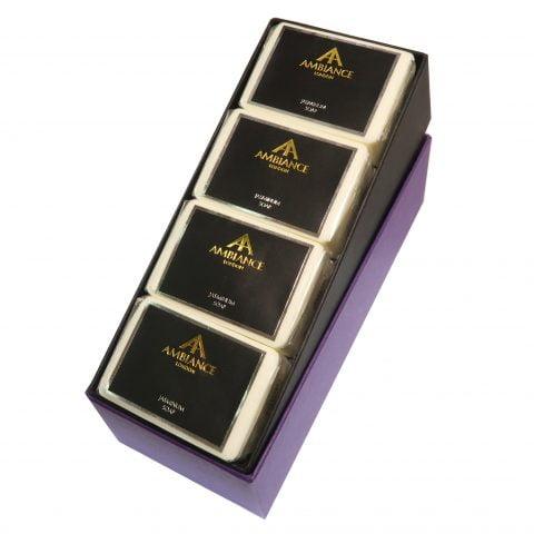 ancienne ambiance jasmine soap bar set - jasminum jasmine soap set - luxury jasmine soap set - plum sykes favourite soap