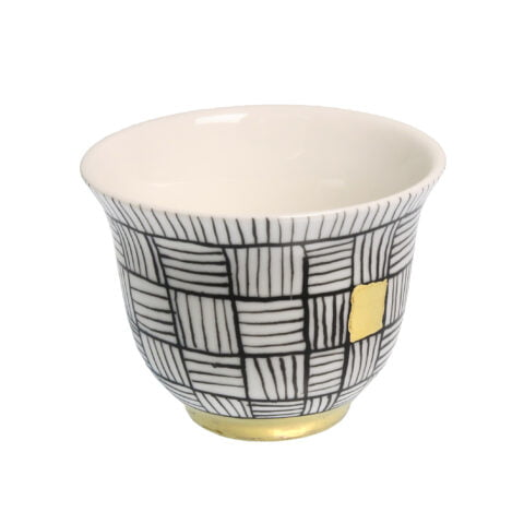 ARIADNE porcelain gold-plated Tealight CANDLE Holder Cup C