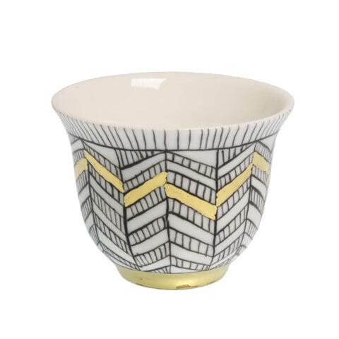ARTEMIS ARROW porcelain gold-plated Tea-Light CANDLE Holder Cup D
