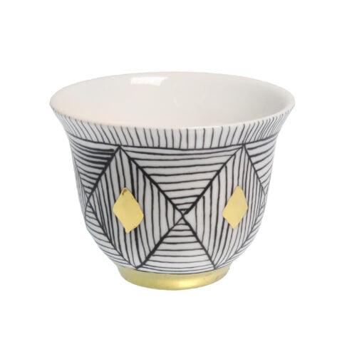 DIAMOND DESIGN porcelain gold-plated Tea Light CANDLE Holder Cup E