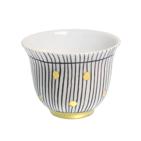 DOTS DESIGN porcelain gold-plated TeaLight CANDLE Holder Cup F
